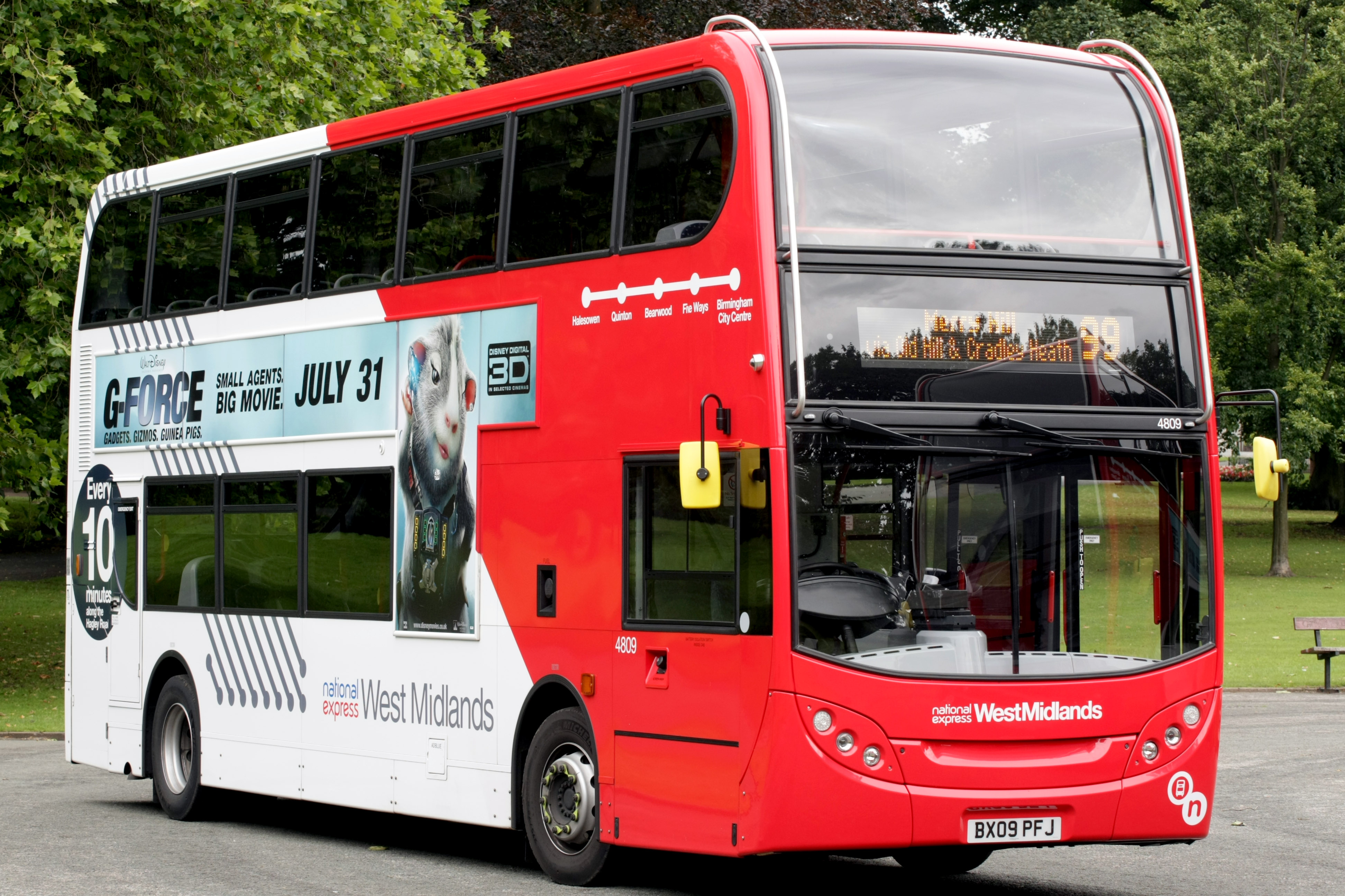 Image of a double decker bus
